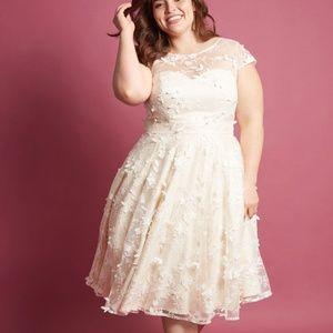 Modcloth Chi Chi London WEDDING Dress 16 Plus NWT